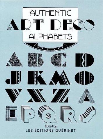 9780486250908: Authentic Art Deco Alphabets (Dover Pictorial Archive Series)
