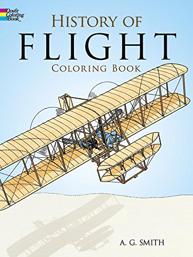 9780486252445: History of Flight Coloring Book
