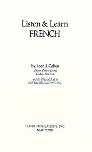 9780486252742: Listen & Learn French (Manual Only)