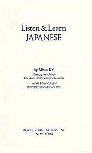 9780486252773: Listen & Learn Japanese (Manual Only) (Listen & Learn Series)
