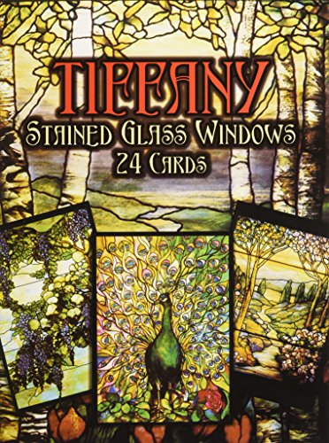 9780486253367: Tiffany Stained Glass Windows: in Full-Color (Post) Cards: 24 Cards (Dover Postcards)