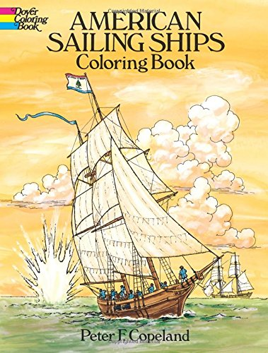 9780486253886: American Sailing Ships Coloring Book (Dover History Coloring Book)