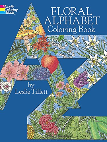 9780486255118: Floral Alphabet Coloring Book (Dover Design Coloring Books)