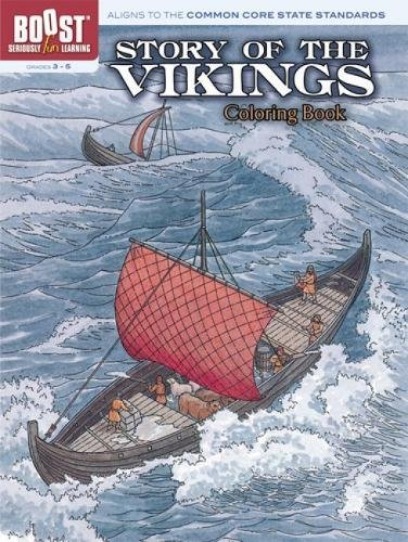Story of the Vikings Coloring Book (Dover pictorial archive) (0486256537) by A. G. Smith