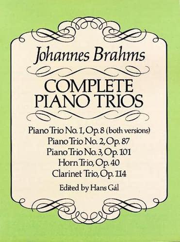 9780486257693: Complete Piano Trios (Dover Chamber Music Scores)
