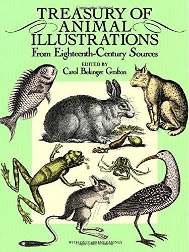 9780486258058: Treasury of Animal Illustrations: From Eighteenth-Century Sources