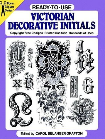 9780486259864: Ready-to-Use Victorian Decorative Initials (Clip Art Series)