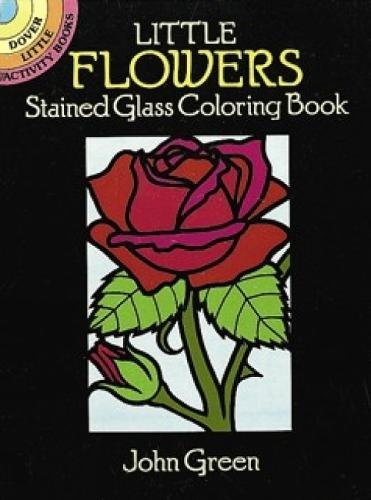 Little Flowers Stained Glass Coloring Book (...