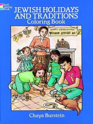 Jewish Holidays And Traditions Coloring Book Dover