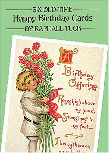9780486266183: Six Old-Time Happy Birthday Postcards (Small-Format Card Books)