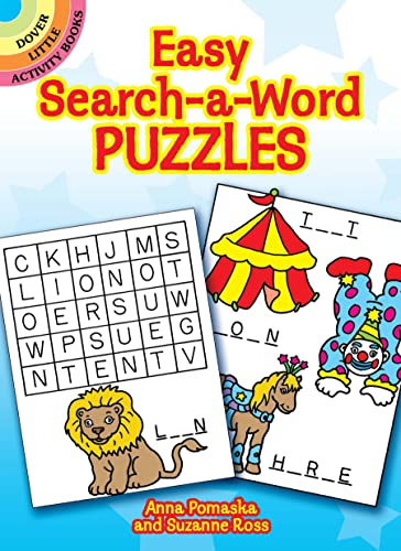 Easy Search-a-Word Puzzles (Dover Little Activity Books): Anna Pomaska, Suzanne