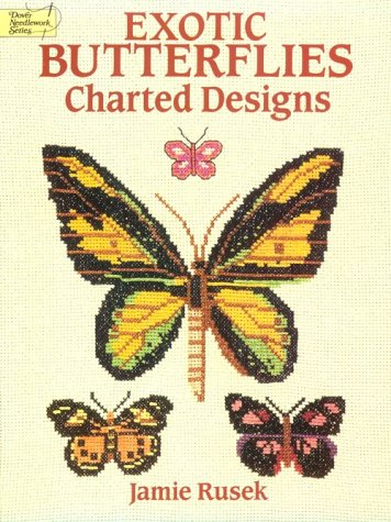 9780486267081: Exotic Butterflies Charted Designs