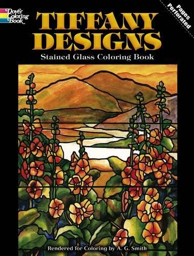 9780486267920: Tiffany Designs Stained Glass Coloring Book (Dover Design Stained Glass Coloring Book)
