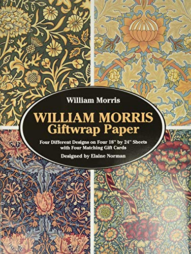 9780486268200: William Morris Giftwrap Paper: 4 Different Designs on Four 18