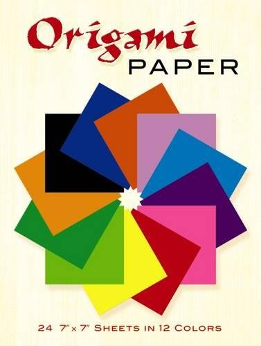 9780486268293: Origami Paper: Includes 24 Sheets of Color Paper in 12 Colors