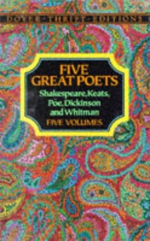 Five Great Poets: Shakespeare, Keats, Poe, Dickinson: Dover Publications Inc.
