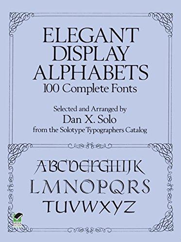 9780486269634: Elegant Display Alphabets (Lettering, Calligraphy, Typography)