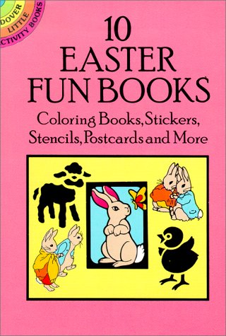 9780486269719: 10 Easter Fun Books: Coloring Books, Stickers, Stencils, Postcards and More