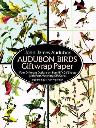 9780486270258: Audubon Birds Giftwrap Paper: Four Difference Designs on Four 18'X24' Sheets With Four Matching Gift Cards