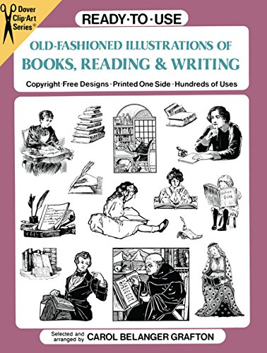 9780486270937: Ready-to-Use Old-Fashioned Illustrations of Books, Reading and Writing (Dover Clip Art Ready-to-Use)