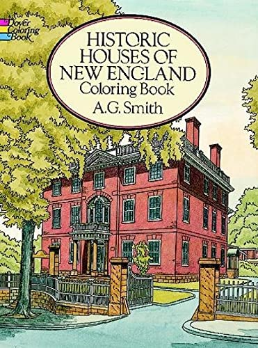 9780486271675: Historic Houses of New England Coloring Book (Dover History Coloring Book)