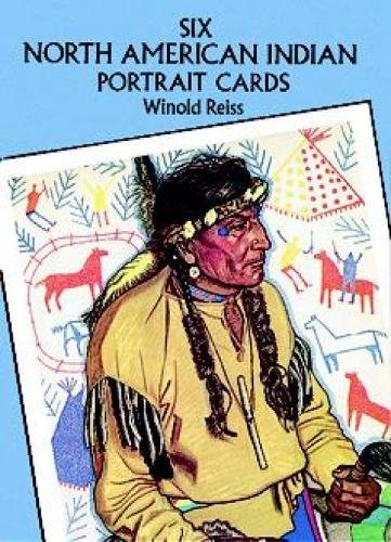 9780486271736: Six North American Indian Portrait Cards (Dover Postcards)