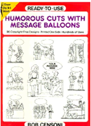 9780486272511: Ready-to-Use Humorous Cuts with Message Balloons (Dover Clip-Art Series)