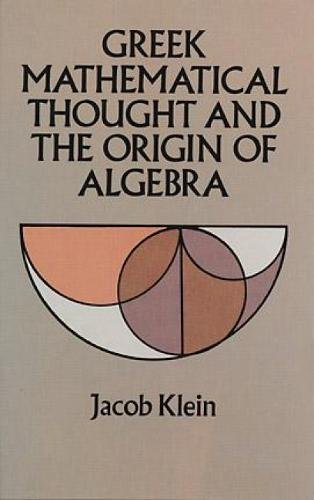 9780486272894: Greek Mathematical Thought and the Origin of Algebra (Dover Books on Mathematics)