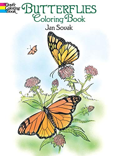 9780486273358: Butterflies Coloring Book (Dover Nature Coloring Book)