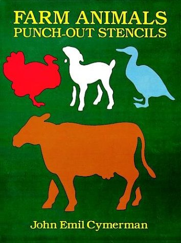 9780486274379: Farm Animals Punch-out Stencils