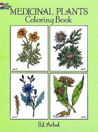 medicinal plants coloring book dover nature coloring book arbel ilil - Nature Coloring Book
