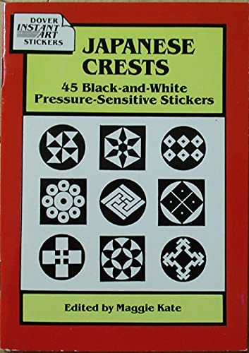 Japanese Crests: 45 Black-And-White Pressure-Sensitive Stickers: Maggie Kate