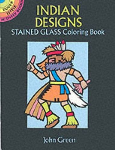 9780486277349: Indian Designs Stained Glass Coloring Book (Dover Stained Glass Coloring Book)