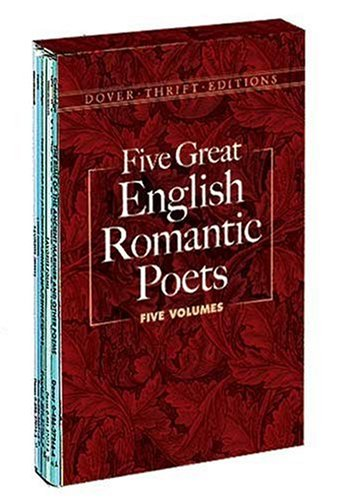 9780486278933: Five Great English Romantic Poets: Boxed Set: Lyric Poems / Selected Poems / Favorite Poems / the Rime of the Ancient Mariner and Other Poems / Selected Poems (Dover Thrift Editions)