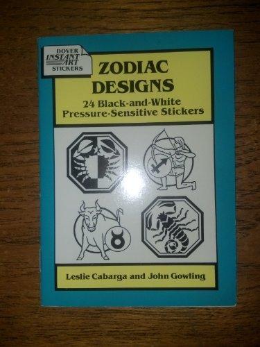 9780486279176: Zodiac Designs: 24 Black-And-White Pressure-Sensitive Stickers