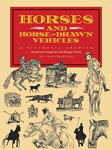 9780486279237: Horses and Horse-Drawn Vehicles: A Pictorial Archive (Dover Pictorial Archive)