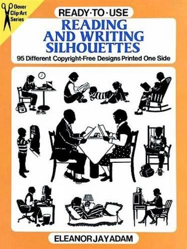 9780486281834: Ready-to-Use Reading and Writing Silhouettes: 95 Different Copyright-Free Designs Printed One Side (Dover Clip Art Ready-to-Use)
