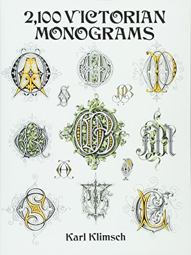 9780486283012: 2,100 Victorian Monograms (Lettering, Calligraphy, Typography)