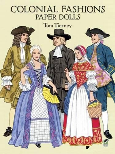 9780486283449: Colonial Fashions Paper Dolls