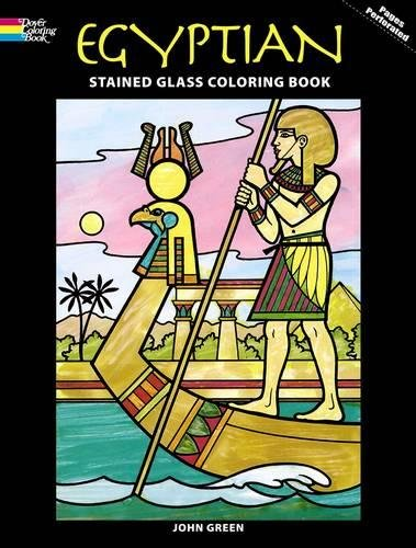 9780486283517: Egyptian Stained Glass Coloring Book (Dover Stained Glass Coloring Book)