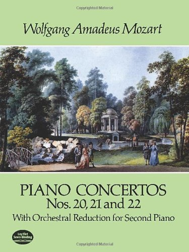 9780486284354: Piano Concertos Nos. 20, 21 and 22: With Orchestral Reduction for Second Piano (Dover Music for Piano)