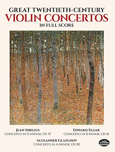 9780486285702: Great Twentieth-Century Violin Concertos in Full Score (Dover Music Scores)