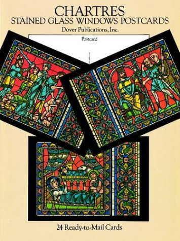 9780486286150: Chartres Stained Glass Windows Postcards: 24 Ready-To-Mail Cards