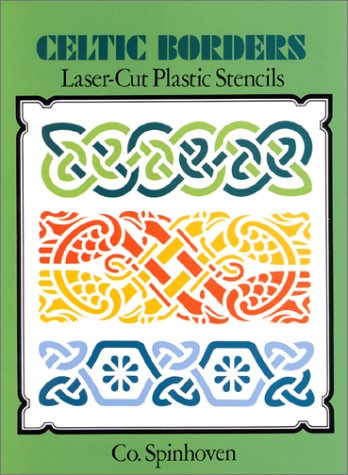 9780486286358: Celtic Borders Laser-Cut Plastic Stencils