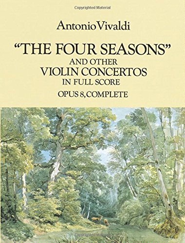 9780486286389: The Four Seasons and Other Violin Concertos in Full Score: Opus 8, Complete (Dover Music Scores)