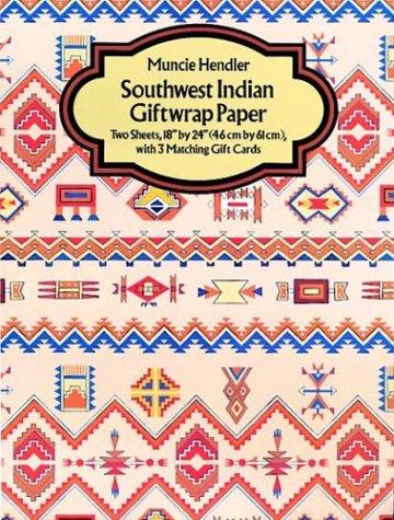 Southwest Indian Giftwrap Paper 2 Sheets 1 Muncie Hendler