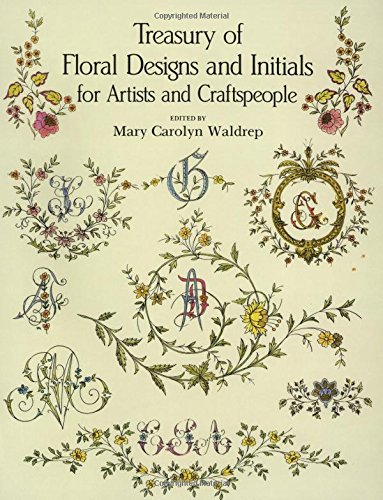 9780486288086: Treasury of Floral Designs and Initials for Artists and Craftspeople
