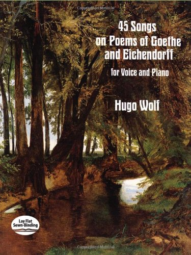 9780486288574: 45 Songs on Poems of Goethe and Eichendorff for Voice and Piano