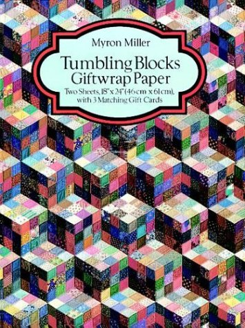 Tumbling Blocks Giftwrap Paper (Giftwrap--2 Sheets, 1 Designs) (0486289109) by Myron Miller