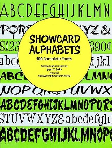 9780486289762: Showcard Alphabets: 100 Complete Fonts (Dover Pictorial Archive Series)